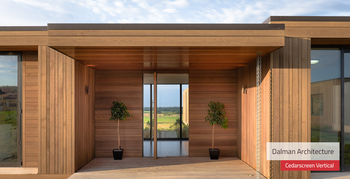 Cedarscreen by rosenfeld kidson cedar weatherboards for - Exterior tongue and groove cladding ...