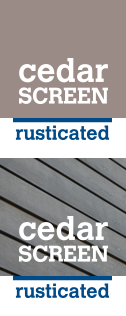 CEDARSCREEN RUSTICATED